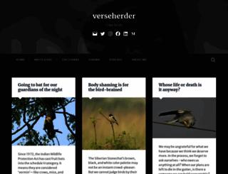 verseherder.wordpress.com screenshot