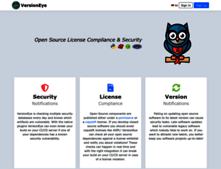 versioneye.com screenshot