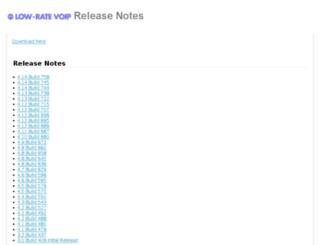versions.lowratevoip.com screenshot