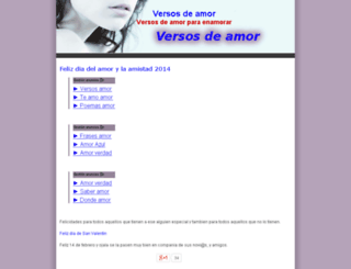 versosdeamor.info screenshot