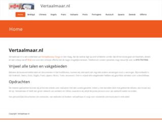 vertaalmaar.nl screenshot