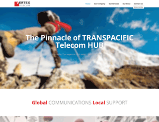 vertextelecom.com screenshot