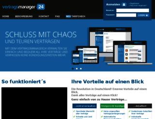 vertragsmanager24.de screenshot