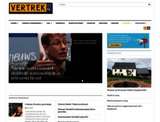 vertreknl.nl screenshot
