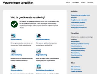 verzekeringenvergelijken.info screenshot
