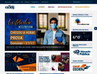 vestibular.cederj.edu.br screenshot