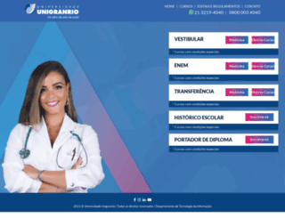 vestibular.unigranrio.edu.br screenshot