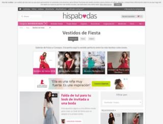 vestidos-de-fiesta.hispabodas.com screenshot