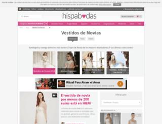 vestidos-de-novias.hispabodas.com screenshot
