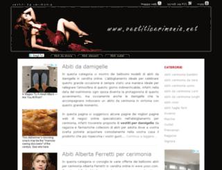 vestiticerimonia.net screenshot