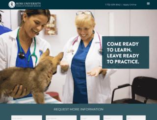 vet.rossu.edu screenshot
