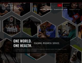 vet.uga.edu screenshot