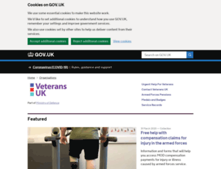 veterans-uk.info screenshot