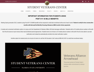 veterans.fsu.edu screenshot