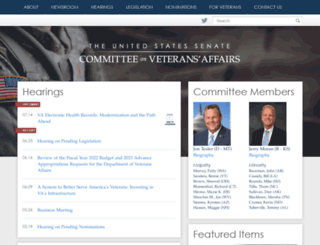 veterans.senate.gov screenshot