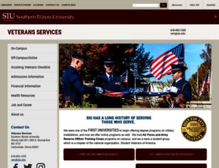 veterans.siu.edu screenshot