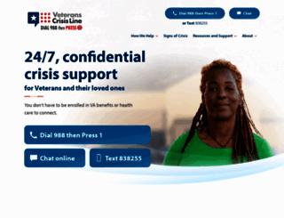 veteranscrisisline.net screenshot