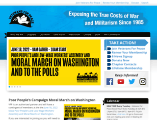veteransforpeace.org screenshot