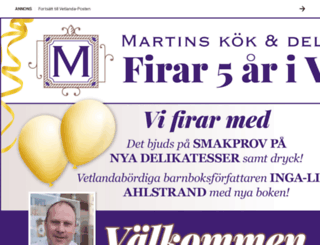 vetlandaposten.se screenshot