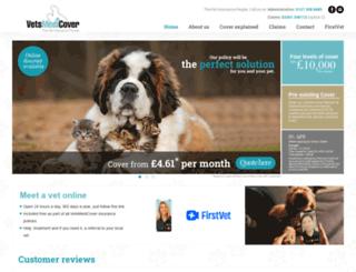 vetsmedicover.co.uk screenshot