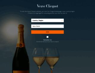 veuve-clicquot.com screenshot