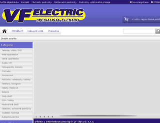vfelectric.inshop.cz screenshot