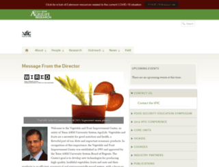 vfic.tamu.edu screenshot