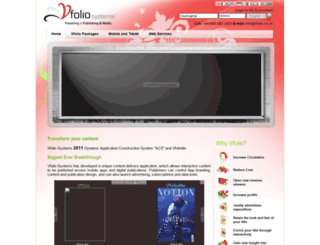 vfolio.co.uk screenshot