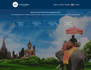 vfs-thailand.co.in screenshot