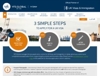 vfs-uk.com.qa screenshot