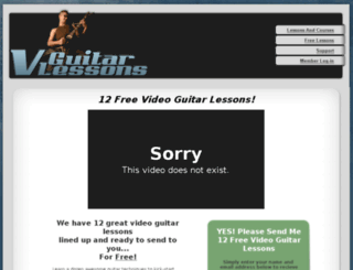 vguitarlessons.com screenshot
