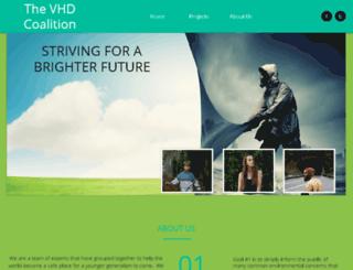 vhdcoalition.org screenshot