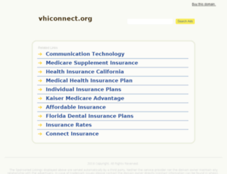 vhiconnect.org screenshot