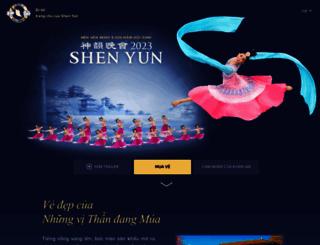 vi.shenyun.com screenshot