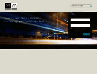 via.intralinks.com screenshot