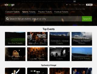 viagogo.pt screenshot