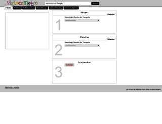 viajaenmetro.com.mx screenshot