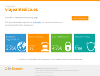 viajeamexico.es screenshot