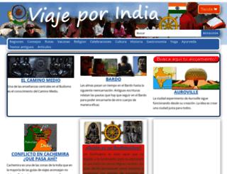 viajeporindia.com screenshot