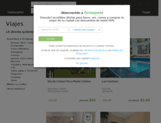 viajes.groupon.com.ar screenshot