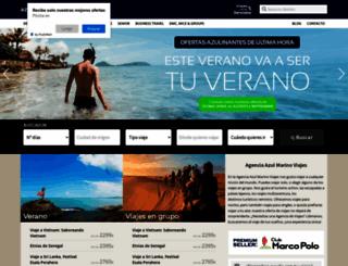 viajesazulmarino.com screenshot