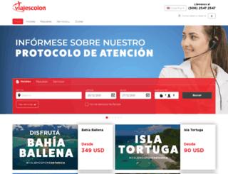 viajescolon.com screenshot
