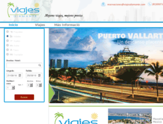 viajesdiamante.com screenshot