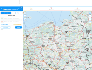 viamichelin.pl screenshot