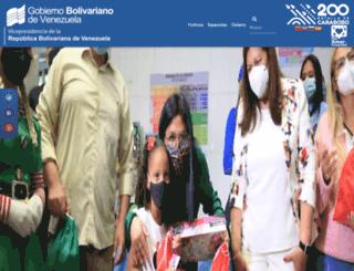 vicepresidencia.gob.ve screenshot
