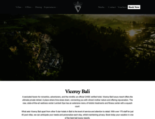 viceroybali.com screenshot
