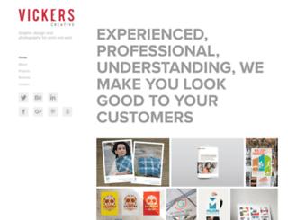 vickerscreative.co.uk screenshot