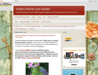 vickieskitchenandgarden.blogspot.com screenshot