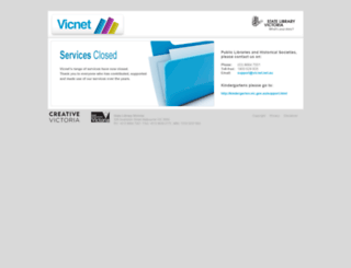 vicnet.net.au screenshot