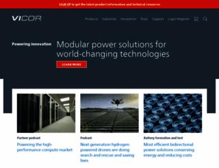 vicorpower.com screenshot